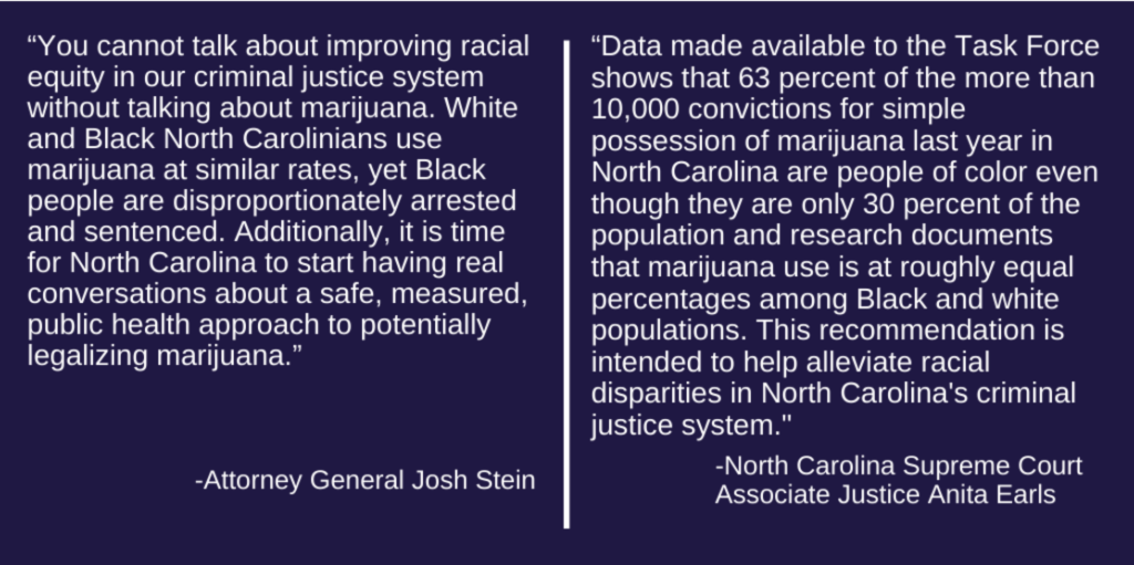 photo of North Carolina Task Force For Racial Equity In Criminal Justice Makes Marijuana Recommendations image